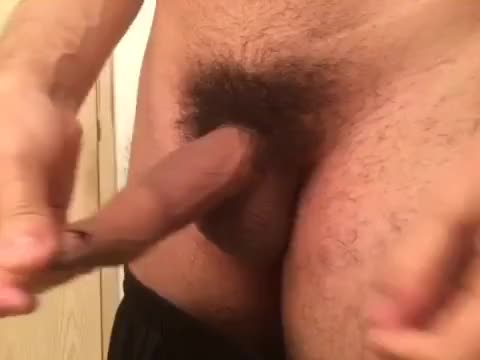 playing with my foreskin.