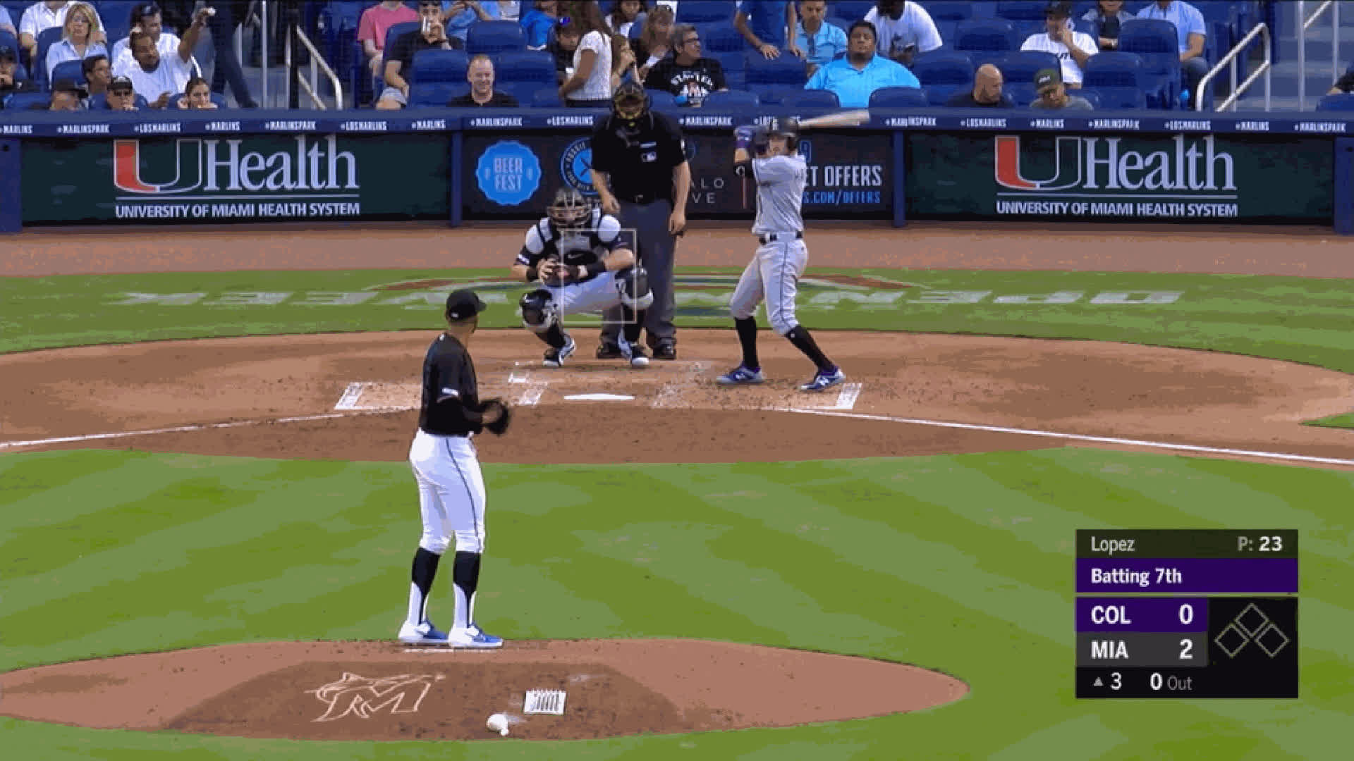 Colorado Rockies, Miami Marlins, baseball, Pablo Lopez-FB-lackofcommand3rdinning GIFs