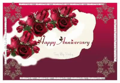 Watch and share To My Friend Maggie And Mr Maggie I Send Love And Congratulations On Your 45th Wedding Anniversary.  Here's To Many More Happy Years. GIFs on Gfycat