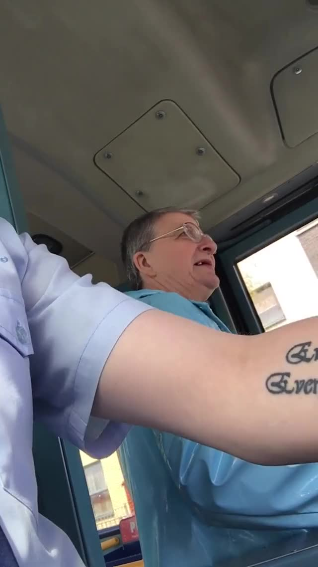 Watch Bye Bye Driver || ViralHog GIF on Gfycat. Discover more bus, bye, driver, happy, kind, scotland, sweet, viralhog, warm GIFs on Gfycat