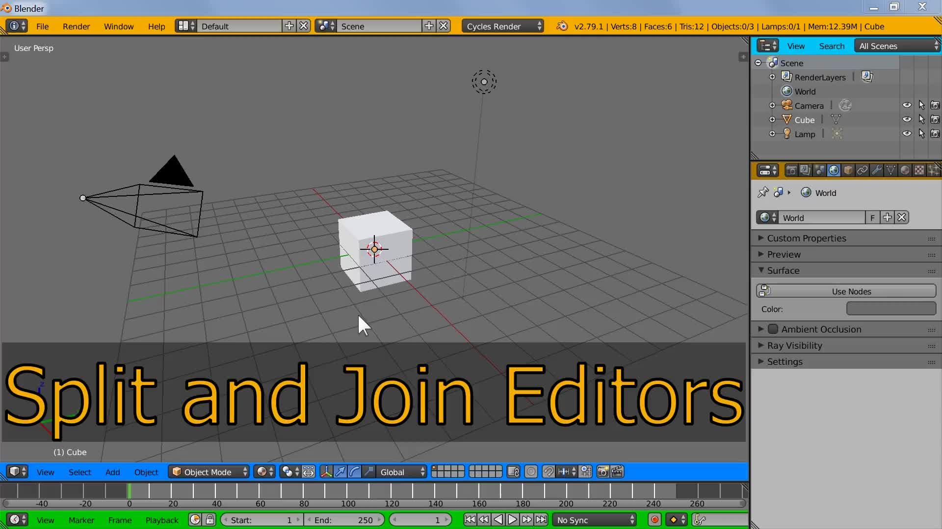 Blender UI Tips Split And Join Editors
