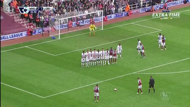 Dimitri Payet bends in an absolute stunner on a free kick