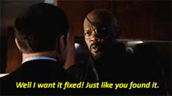 Watch this nick fury GIF on Gfycat. Discover more I'M LOVING THIS SHOW, agents of s.h.i.e.l.d., agents of shield, aos, fix the subs in the last gif im sorry i have failed, i couldnt, i'm loving this show, marvel, mine, nick fury, phil coulson, samuel l jackson GIFs on Gfycat