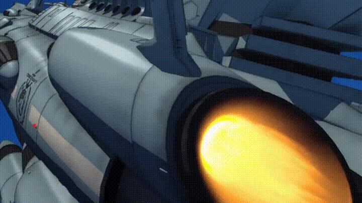 anime, spacegifs, yamato_2202, Andromedas launching GIFs