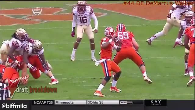 Watch and share DeMarcus Walker (Florida State) Vs. Clemson (2015) GIFs on Gfycat
