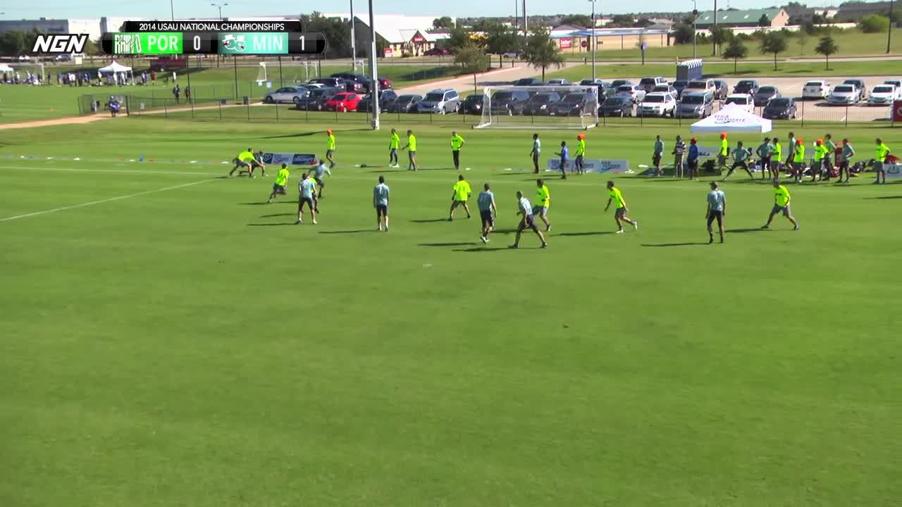 full game, nexgen, ultimate frisbee, Portland Rhino vs Minneapolis Sub Zero - 2014 National Championships - Pool Play (M) GIFs