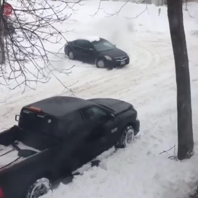 Dash Cam, Stuck in the snow GIFs