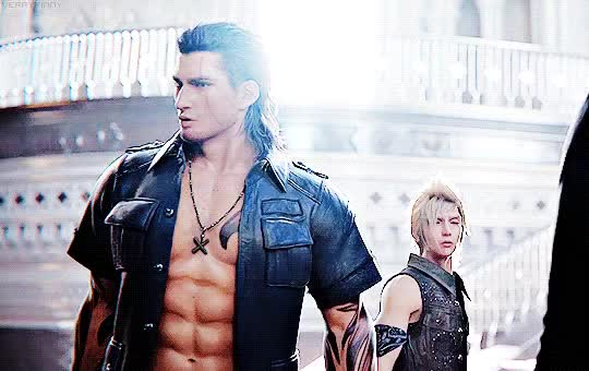 Watch and share ✽Ǥεη-sαη✽ - OMG! Gladio And Prompto Are Really Hot *w*  #FFXV #gladiolus #prompto #FF15 GIFs on Gfycat