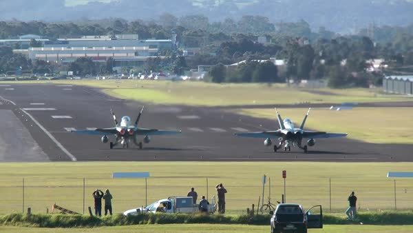 aviationgifs, L-39 Albatross jet trainer hit by a whirlwind on takeoff, excellent recovery skills. (reddit) GIFs
