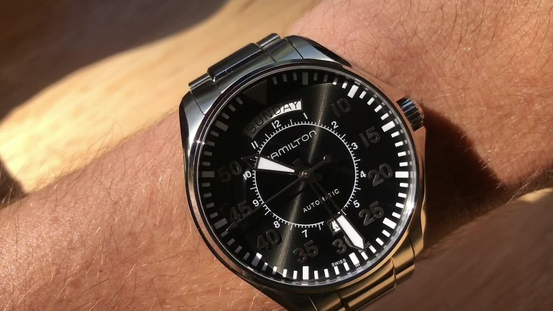 60fps, watches, Hamilton Khaki Aviation Auto GIFs