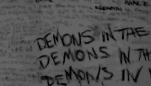 Watch and share • Scary Gif Black And White Creep Creepy Weird Horror Scared Wall Crazy Freak Strange Insane Mad Demon Odd Freaky Bizarre Demons Twisted Psycho Insanity Psychopath Walls Psychotic Bonkers Madness Halls Hall Demons In My Head Nightmare-of-mine • GIFs on Gfycat