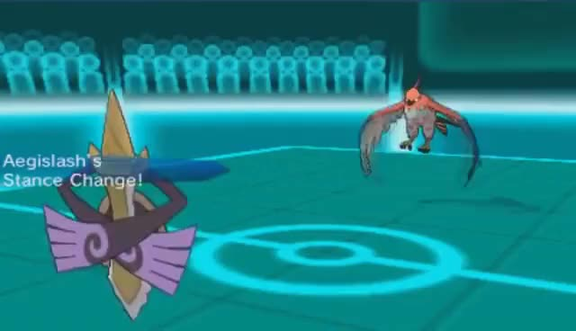 Watch and share Pokemon X And Y WiFi Battle #50: Shiny Aegislash And The Powerful Hits! GIFs on Gfycat