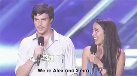 "Watch ""Brother and Sister?""""No, we kiss, so that'd be weird."" GIF on Gfycat. Discover more alex and sierra, alex kinsey, alexnsierra, audition, cute, dylan o'brien, dylano'brien, mine, my gif, my gifs, one direction, sierra deaton, stiles, teen wolf, winners, x factor GIFs on Gfycat"