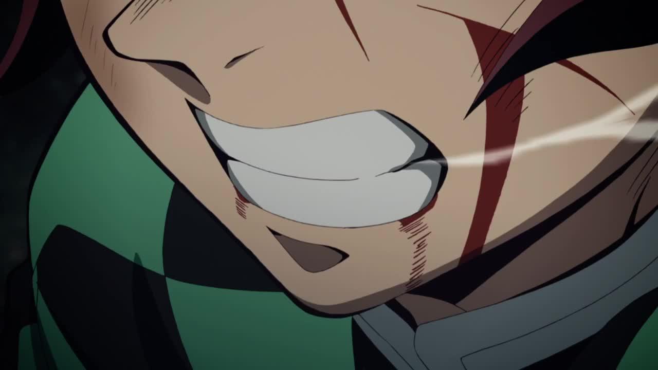 anime, animegifs, bestsceneofthefuckingyear, demon slayer, kimetsu no yaiba, Kimetsu No Yaiba (Fight scene against one of the Twelve Kizuki, Rui) GIFs