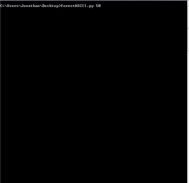 dailyprogrammer, ASCII Forest gen GIFs