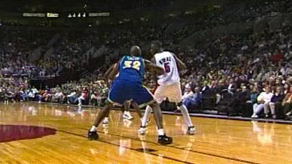 Watch Jermaine O'Neal, Portland Trail Blazers GIF by Off-Hand (@off-hand) on Gfycat. Discover more related GIFs on Gfycat