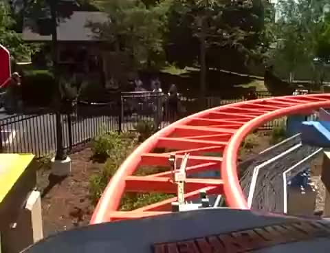 Watch and share Hersheypark - Ride On Fahrenheit, Front Seat Ride POV! Wow! Hershey Park Rollercoaster Coaster GIFs on Gfycat