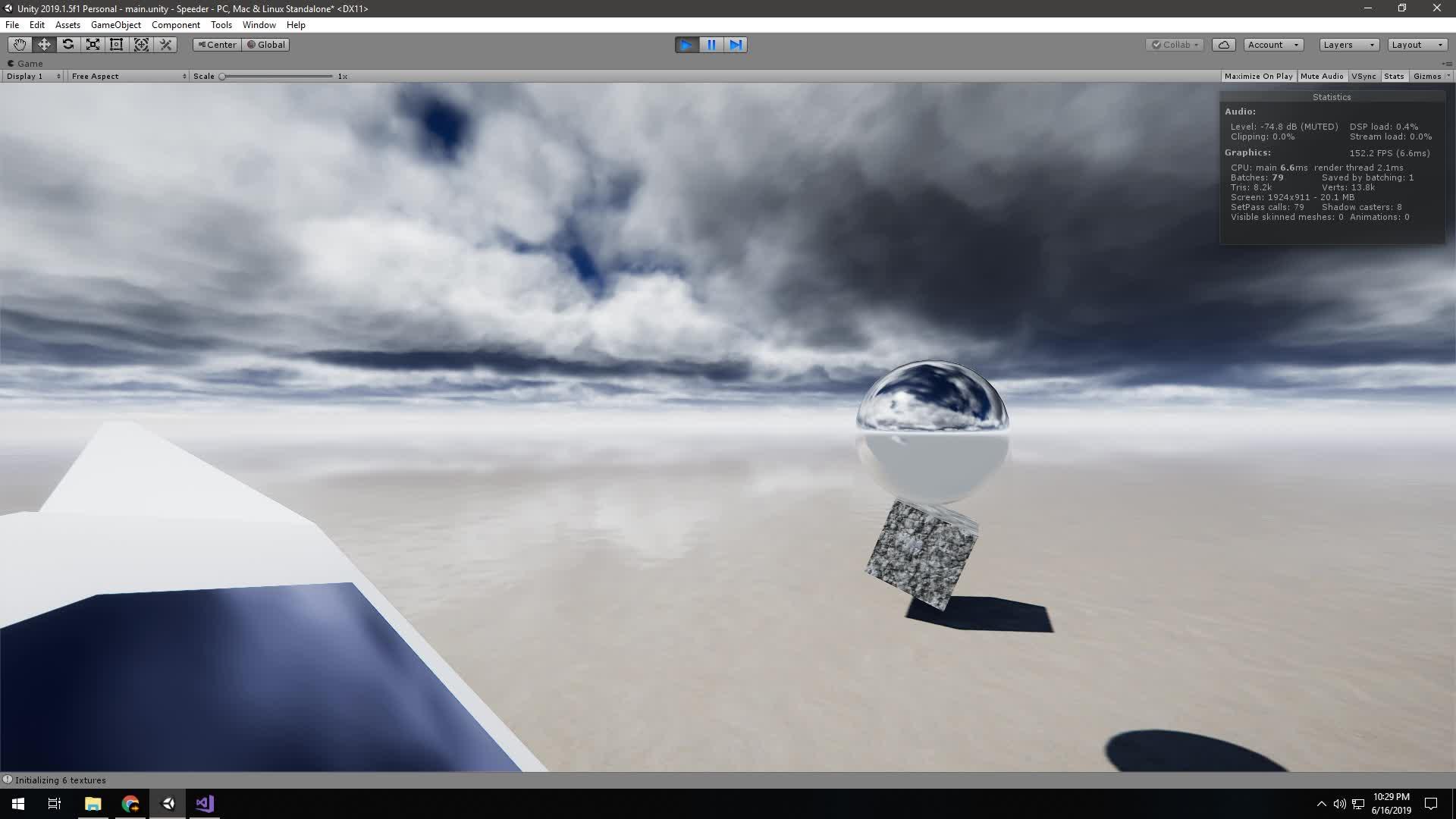 Volumetric Cloud PPFX Cubemap Reflection Probe