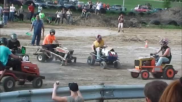 Watch and share KRAZY Garden Tractor Demo Derby! GIFs on Gfycat