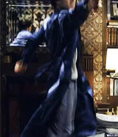 Watch and share Sherlock Wearing: The Blue Dressing Gown GIFs on Gfycat