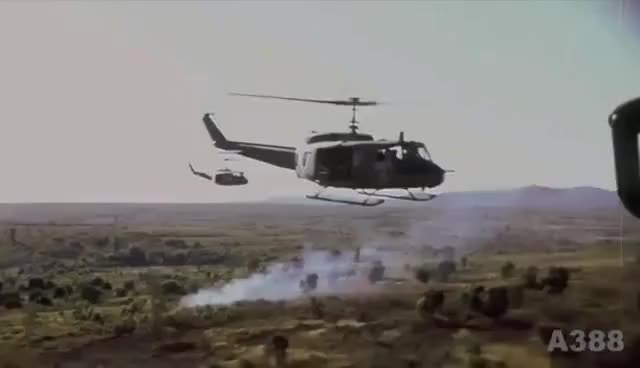 """Watch and share UH-1 """"Huey"""" Helicopter In Vietnam - Rolling Stones """"Gimme Shelter"""" HD GIFs on Gfycat"""