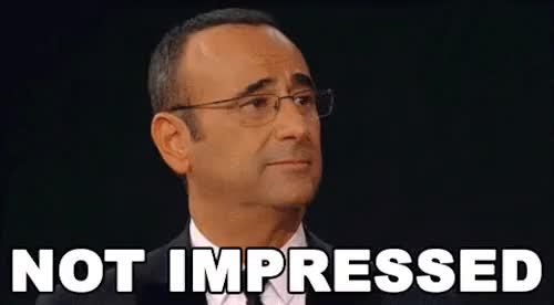 Watch and share Not Impressed GIFs and Carlo Conti GIFs on Gfycat