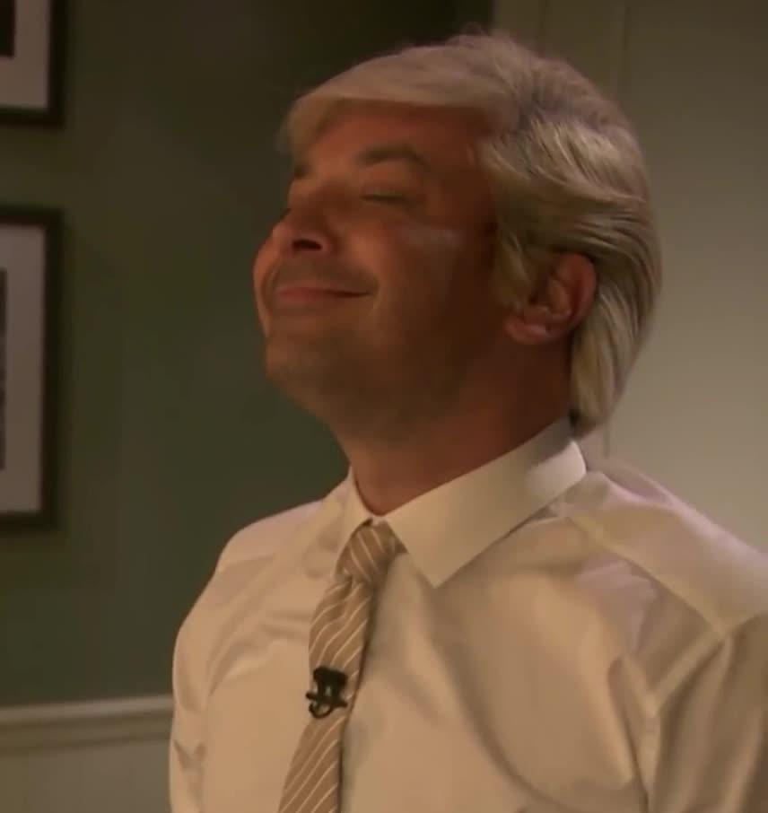 aww, blush, close, cute, donald, eyes, face, fake, fallon, feel, flattered, imitation, it, jimmy, sleep, sleepy, smile, smily, trump, your, Jimmy is happy GIFs