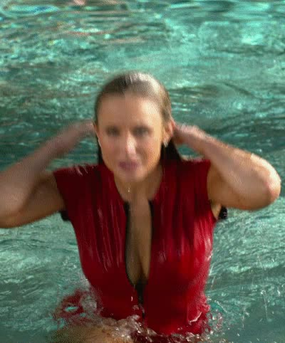 kristen Bell wet and ready