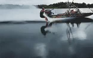 Watch Barefoot water skiing. GIF on Gfycat. Discover more related GIFs on Gfycat