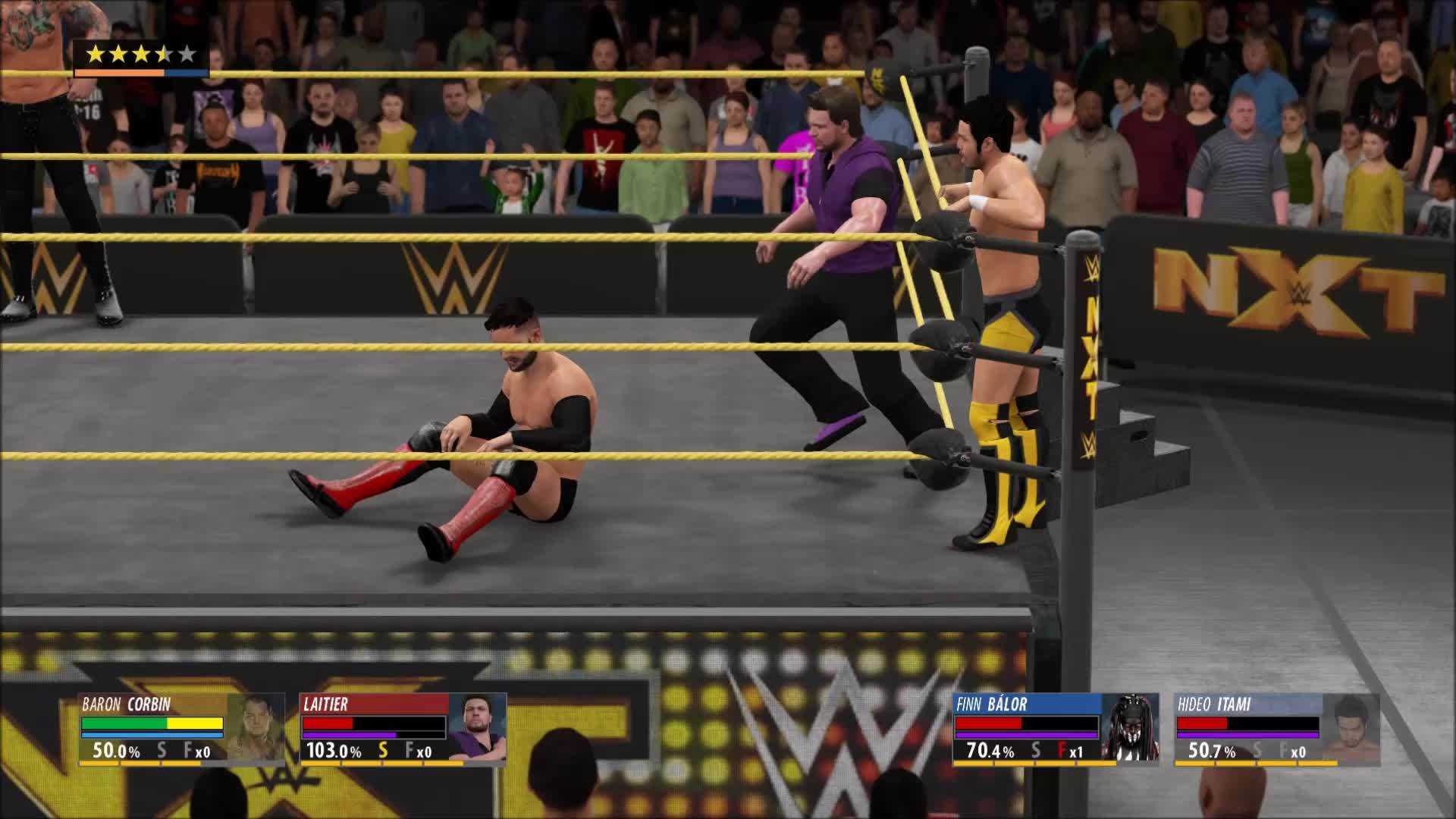 GamePhysics, gaming, [WWE 2K16] Finn Balor with a new evasive maneuver (reddit) GIFs