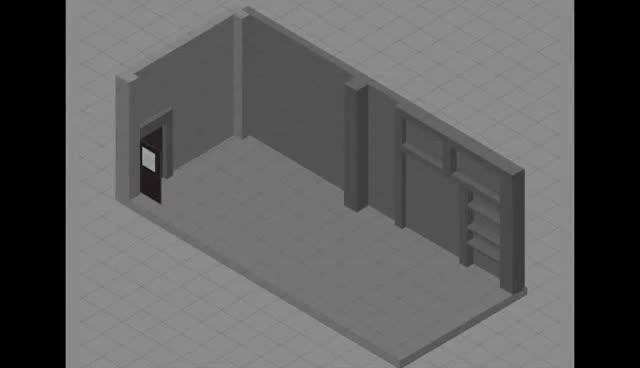an isometric room drawing, isometric chunli room GIFs
