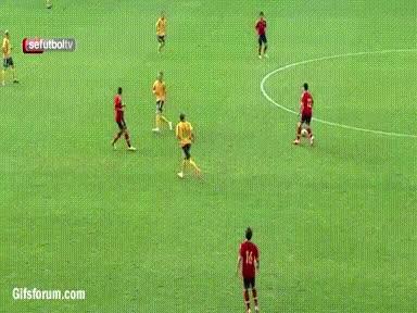 Watch and share Munir El Haddadi's Beautiful Curl For Spain U19 V Lithuania GIFs on Gfycat