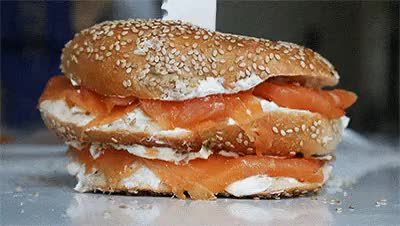 Watch and share Sandwich GIFs and Bagels GIFs on Gfycat
