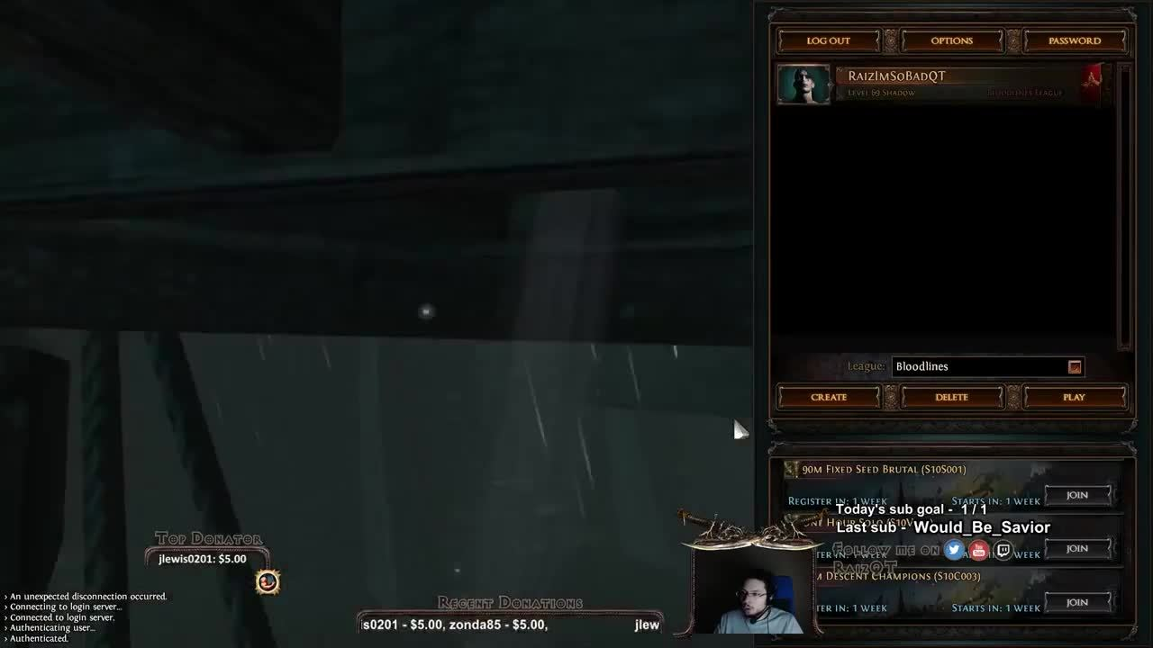 Path Of Exile Unexpected Disconnection