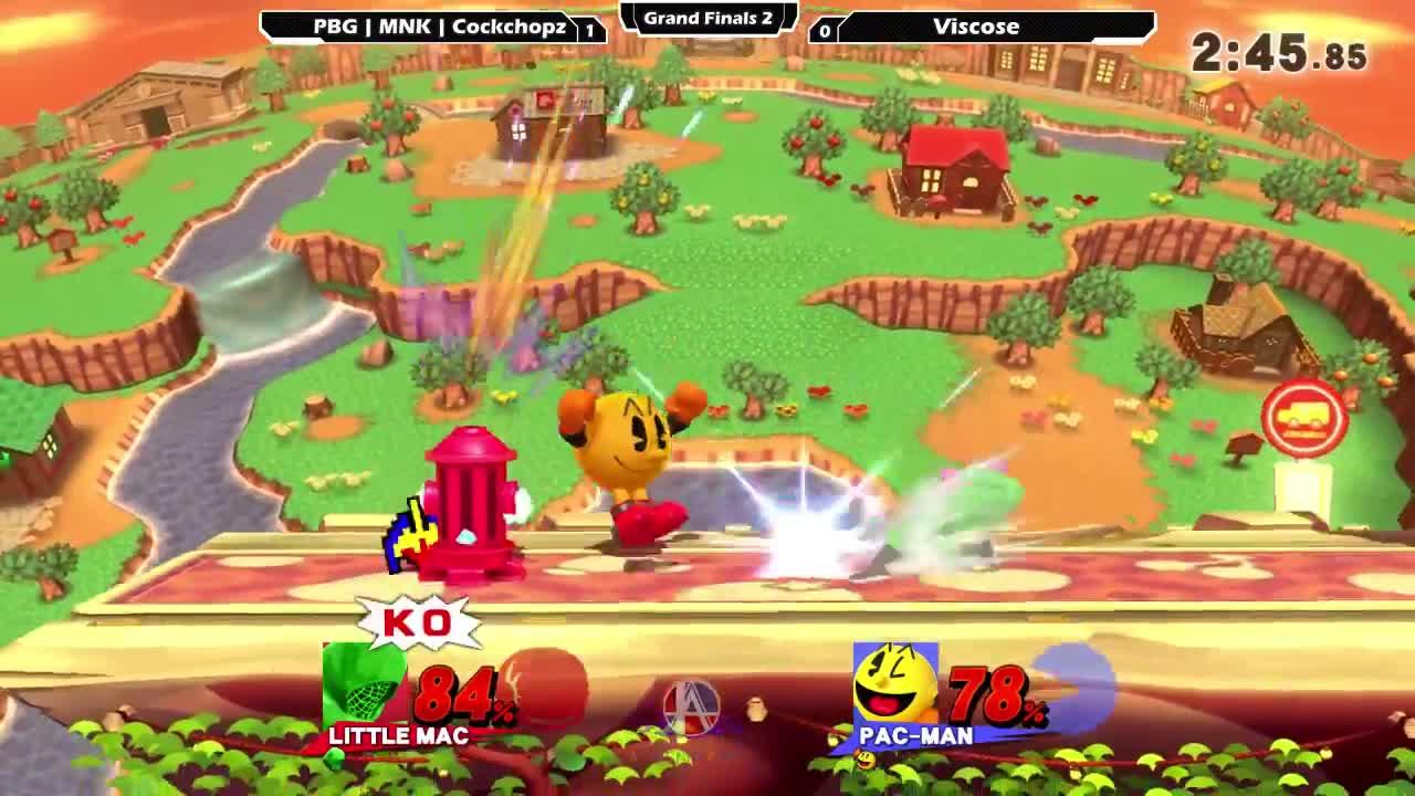 SSB4, Sm4sh, Smash, Smash 4 Wii U, Smash Bros, Smash4WiiU, SmashBros, Super Smash Bros, Super Smash Brothers Smash Brothers Smash4, SuperSmashBros, cockchopz, smashgifs, ssmb, Smash 4: PBG | MNK | Cockchopz (Little Mac) V Viscose (Pacman) - Ascendance 78 Tournament SSB4 GIFs