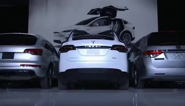 Watch Tesla launches Tesla Model X SUV with Falcon Wing Doors GIF on Gfycat. Discover more related GIFs on Gfycat