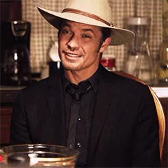 Watch and share Timothy Olyphant GIFs and You Little Shit GIFs on Gfycat