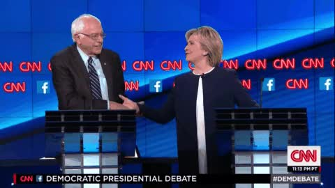 Watch and share Hillary Clinton And Bernie Sanders Shake Hands GIFs by Danno on Gfycat
