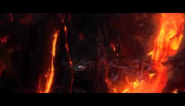 Vader Arrives On Mustafar Revenge Of The Sith 1080p Hd Gif Gfycat