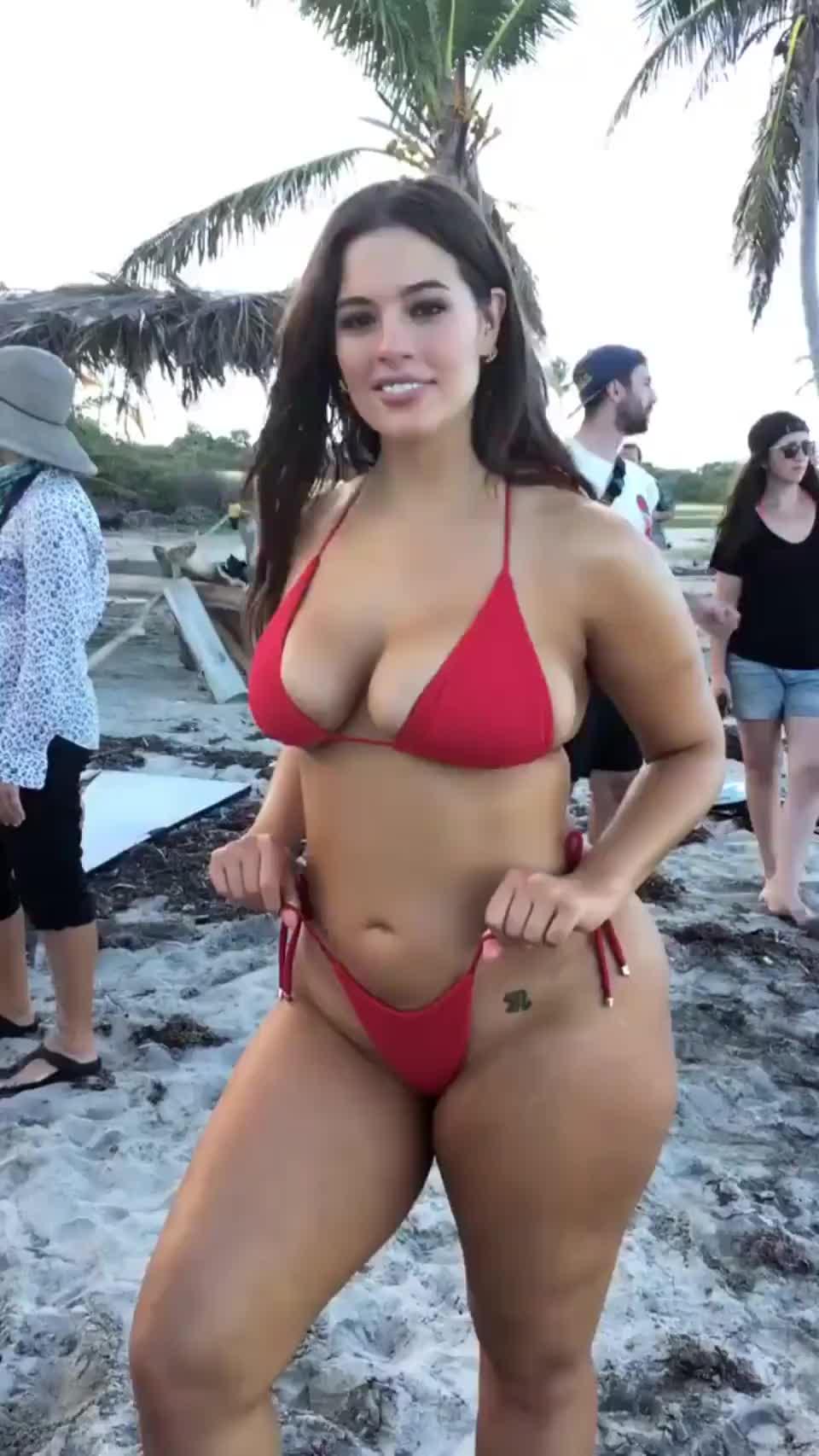 Ashley Graham in a tiny bikini