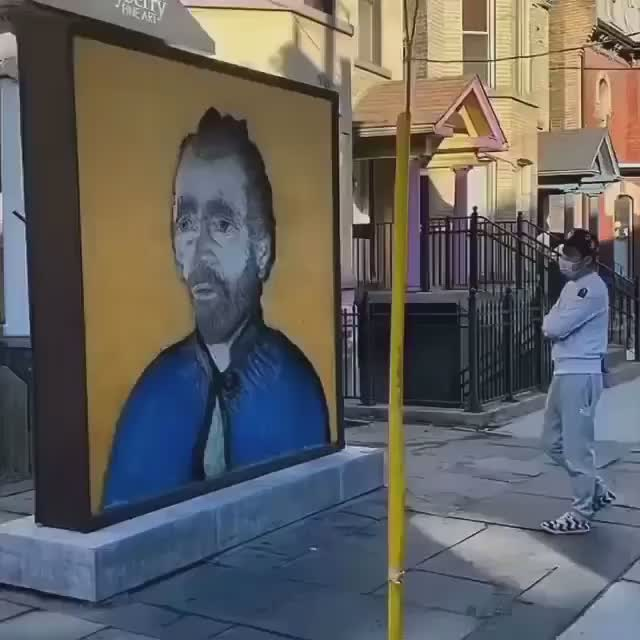 Watch and share Van Gogh Observes GIFs and Joe Fafard GIFs by rodrobong26 on Gfycat