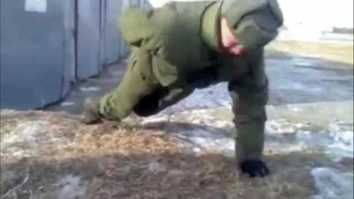 anormaldayinrussia, gifs, Military Style Push-ups (reddit) GIFs