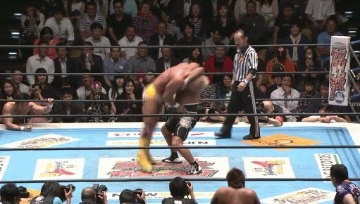 HighlightGIFS, highlightgifs, NJPW BOSJ: Can Honma get him over? (reddit) GIFs