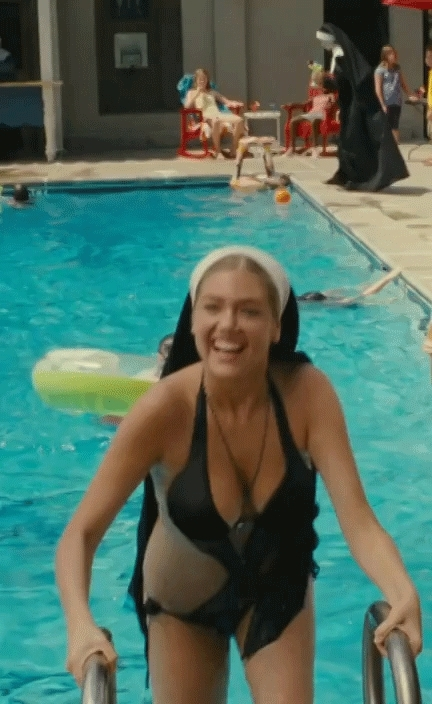 kateupton, Nun Upton getting out of the pool (reddit) GIFs