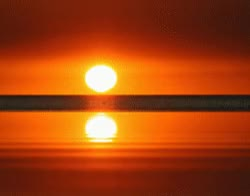 Watch and share Bright, Full Sun On Ocean Edge, Reflecting Water GIFs on Gfycat
