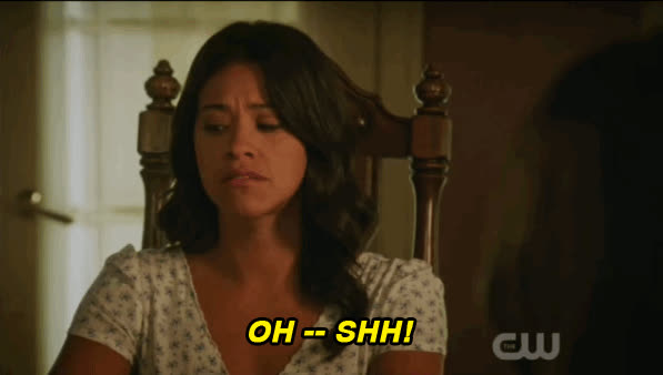 be quiet, hush, quiet, shhh, shush, shut up, silence, jane the virgin 2x03 shh be quiet season 2 episode 3 shush Shushing GIFs