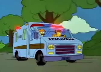 Watch and share Ambulancia | Los Simpson GIFs on Gfycat