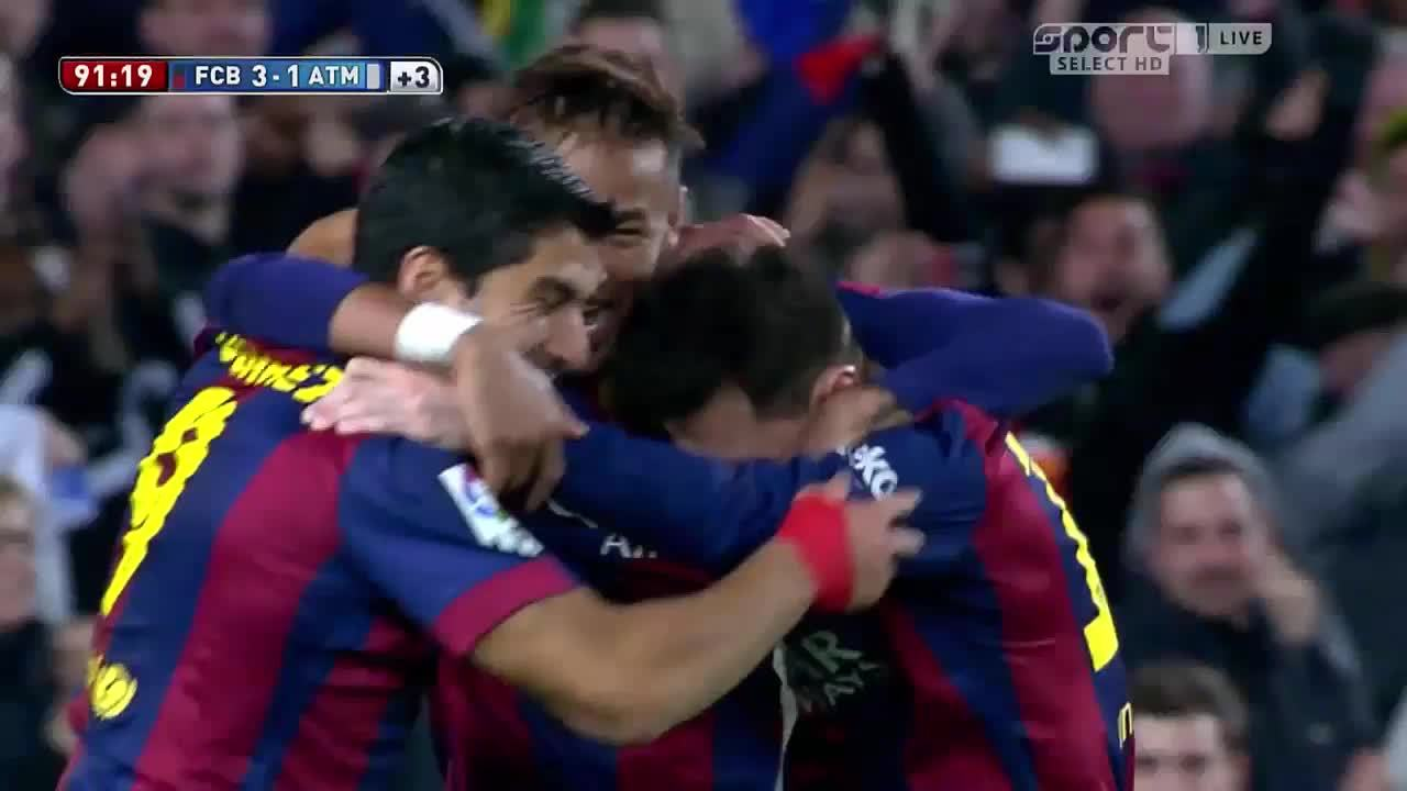 Barca, Lionel Messi, Luis Suarez, footbaww, soccer, Messi, Neymar and Suarez celebrating. (reddit) GIFs