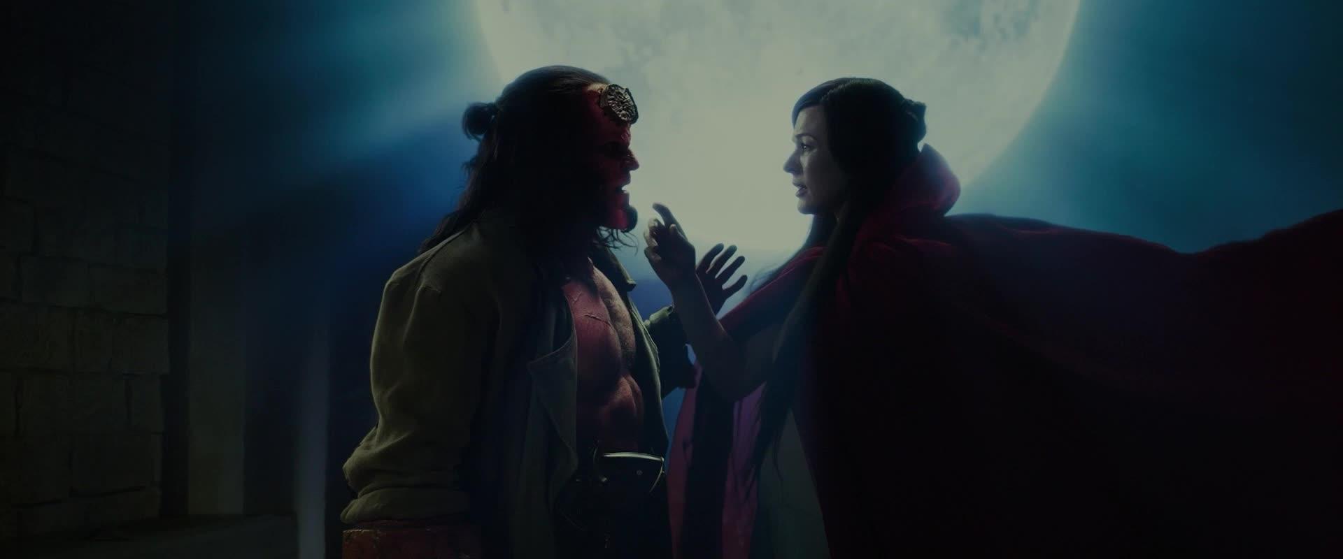 dark horse, dark horse comics, david harbour, hellboy, hellboy 2019, hellboy movie, i love u, i love you, love, love you, milla jovovich, superhero, superheroes, Hellboy Nimue Love GIFs