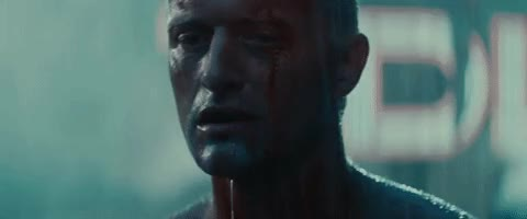 Watch this blade runner GIF by Mike (@miketv47) on Gfycat. Discover more 1982, blade runner, movie, rain, rutger hauer, scene, tears, tears in rain GIFs on Gfycat